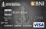 Kartu Kredit BNI-Universitas Kristen Duta Wacana Card Platinum