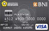 Kartu Kredit BNI-Universitas Sriwijaya Card Platinum