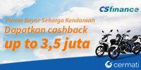 Penawaran Cermati - Promo Kredit Motor Bunga 0% dan Cashback 3,5 jt