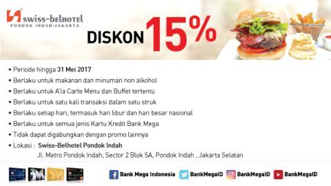 Swiss Cafe Diskon 15% Bank Mega