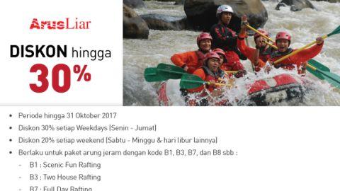 Arus Liar Diskon hingga 30% Weekdays dan 20% Weekend di Bank Mega