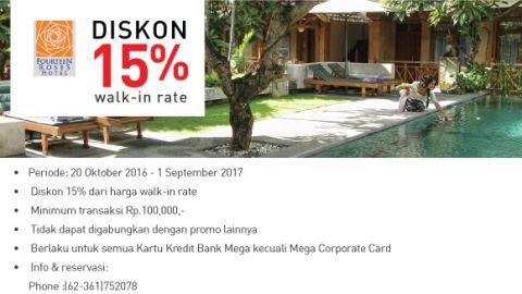 Fourteen Roses Hotel Bali Discount 15% - Bank Mega
