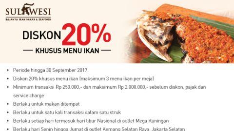 SULAWESI Resto - Disc 20% Bank Mega
