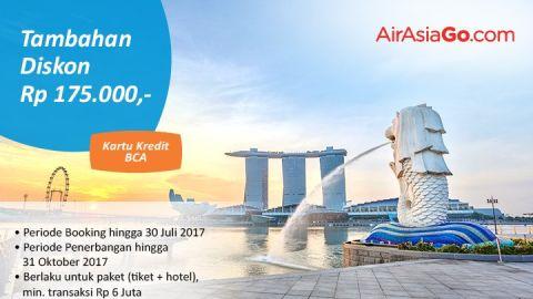 Air Asia Go Promo Spesial BCA - Diskon Ekstra Rp. 175.000 BCA