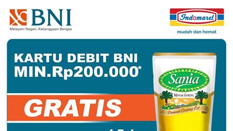 Indomaret Promo Debit BNI! Gratis Minyak Goreng 1 Liter BNI