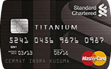 Kartu Kredit Standard Chartered MasterCard Titanium