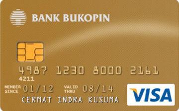 Kartu Kredit Bukopin Visa Gold