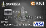 BNI-Universitas Kristen Duta Wacana Card Platinum