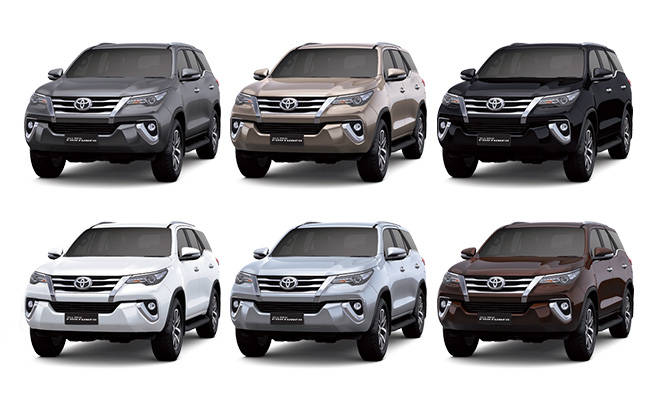 Warna Toyota Fortuner