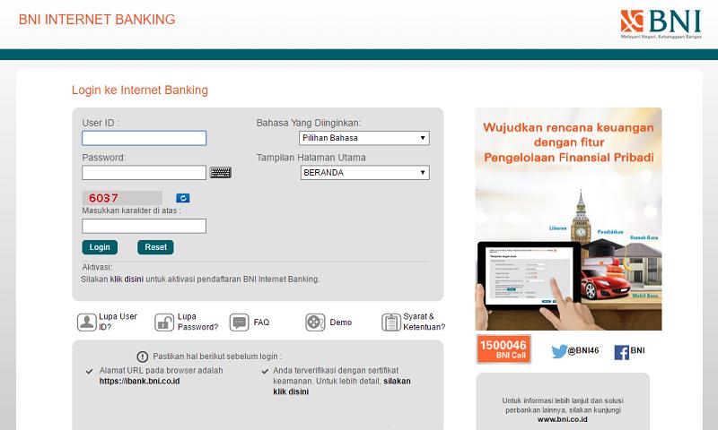 Layanan Internet Banking BNI
