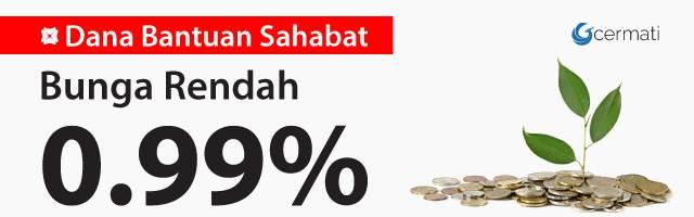 KTA Bank DBS - Bunga 0.99%